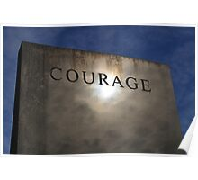 COURAGE (Bicentennial Capitol Mall State Park, Nashville TN) Poster