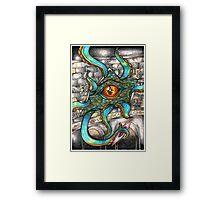 Space Octopus Alien- Sci fi, Scifi art, space Framed Print