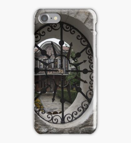 Elliptic View - Beautiful Home Through a Fence Window iPhone Case/Skin