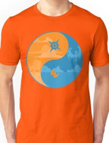 Sun and Moon Yin and Yang Color Unisex T-Shirt