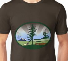 Vintage Rural Country Scene.png Unisex T-Shirt