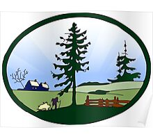 Vintage Rural Country Scene.png Poster