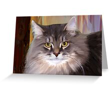 Zarko Kitty Greeting Card