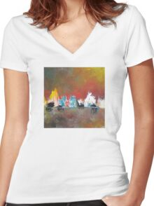 Memory of a vacation #14 Women's Fitted V-Neck T-Shirt