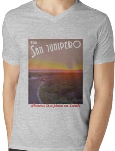 Black Mirror - San Junipero Mens V-Neck T-Shirt
