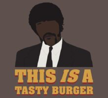 This is a tasty burger. Baby Tee