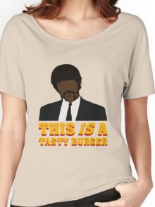 This is a tasty burger. Women's Relaxed Fit T-Shirt