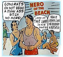 Funny Comic Book Ads: Hero of the Beach Poster