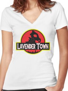 Lavender Town Women's Fitted V-Neck T-Shirt