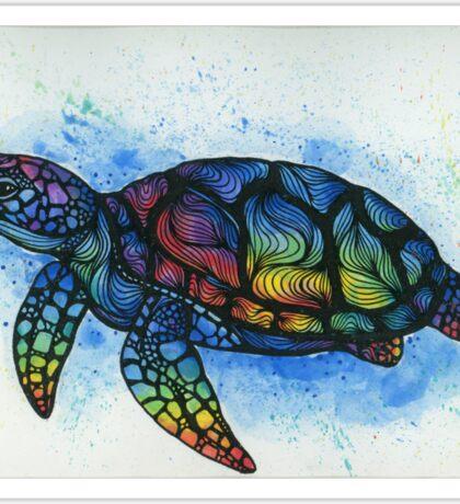 Rainbow Turtle Sticker