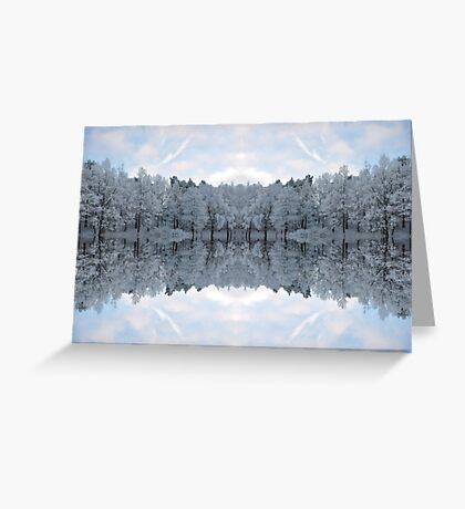 Winter mirror Greeting Card