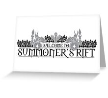 Welcome to Summoner's Rift Greeting Card