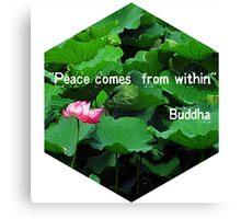 Peaceful Lotus Canvas Print
