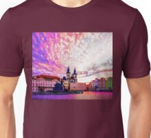 Prague Old Town Square Abstraction Unisex T-Shirt