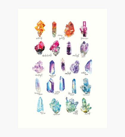 Crystal Collection 1 Art Print