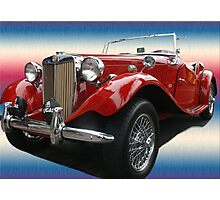 Mercy Me! It's a 1952 MG! Photographic Print