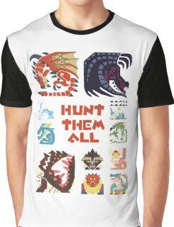MONSTER HUNTER 4 - HUNT THEM ALL Graphic T-Shirt