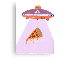Pizza Alien Canvas Print