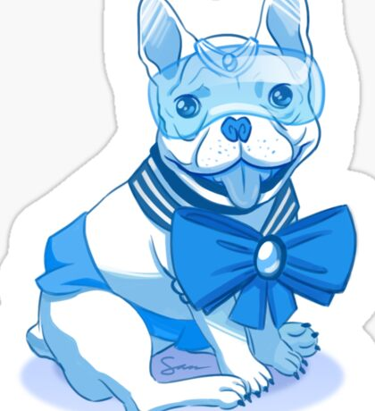 Sailor MercuFrenchie (Gradient) Sticker
