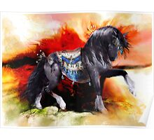 Kachina Hopi Native American Spirit Horse Poster