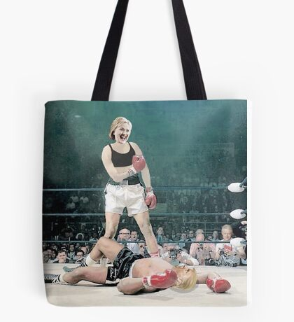 Hillary Knocks Out Trump Tote Bag