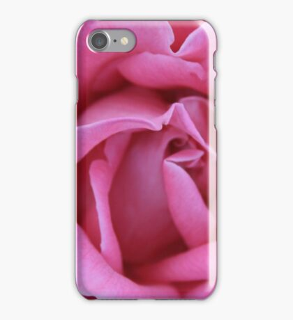Dusky Pink Rose Macro iPhone Case/Skin