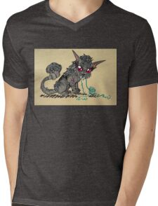 Feral Druid and Yarn Mens V-Neck T-Shirt