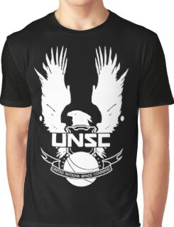 U.N.S.C. Insignia, 343i Redesign (White Logo) Graphic T-Shirt