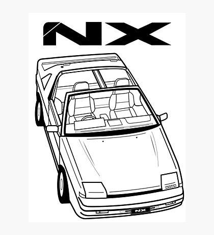 Nissan Pulsar NX Action Shot Photographic Print