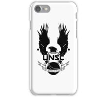 U.N.S.C. Insignia, 343i Redesign (Black Logo) iPhone Case/Skin