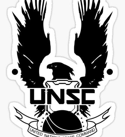 U.N.S.C. Insignia, 343i Redesign (Black Logo) Sticker