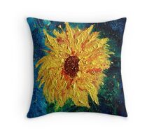 Sunflower - Tribute to Van Gogh Throw Pillow