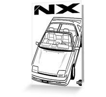 Nissan Pulsar NX Action Shot (LHD) Greeting Card