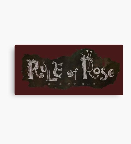 Rule of Rose Canvas Print