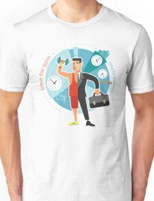 Time For Business vs Fitness Unisex T-Shirt