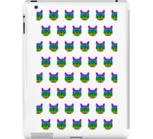 Psychedelic Geek Cat iPad Case/Skin