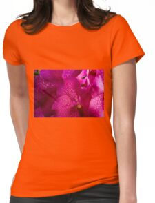 Pink Orchids Womens Fitted T-Shirt