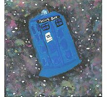 Doctor Who - The TARDIS in Space Photographic Print
