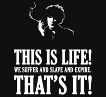 Bernard Black - Black Books T Shirt by madphilosopher