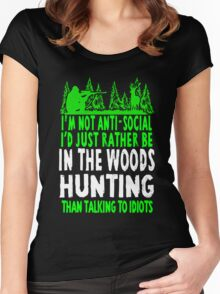 In The Woods Hunting T Shirt Women's Fitted Scoop T-Shirt
