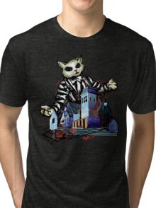 Ghost with the Meowst Tri-blend T-Shirt
