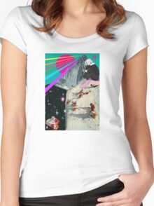Connan Mockasin collage Women's Fitted Scoop T-Shirt