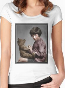Christopher Robin and Pooh Women's Fitted Scoop T-Shirt