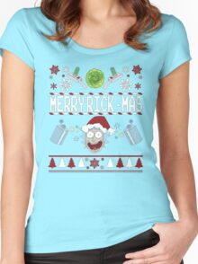 Merry Rick-Mas T-Shirt Women's Fitted Scoop T-Shirt