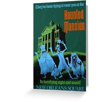 Magic Kingdom Haunted Mansion Poster Greeting Card