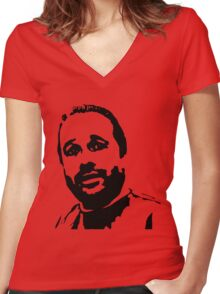 Hugh Mungus Che Guevara Style Women's Fitted V-Neck T-Shirt