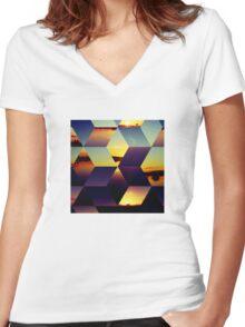Daybreak Women's Fitted V-Neck T-Shirt