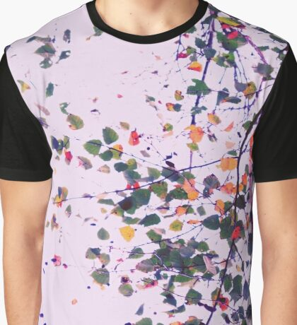 Nature Pattern # 8 - Birch (Pink) Graphic T-Shirt