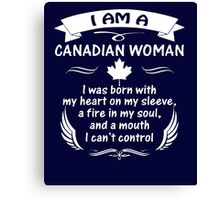 Canadian woman T-shirt Canvas Print