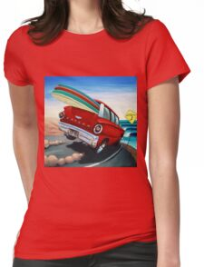 Surfin Wagon Womens Fitted T-Shirt